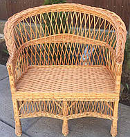 Диван плетеный маленький |скамейка из лозы 100 см | диван плетеный на из лозы