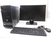 Компьютер в сборе,Intel Core i3 2120, 4 ядра по 3,2 ГГц, 4 Гб ОЗУ DDR-3, HDD 160 Гб, видео 1 Гб, монитор 22 д