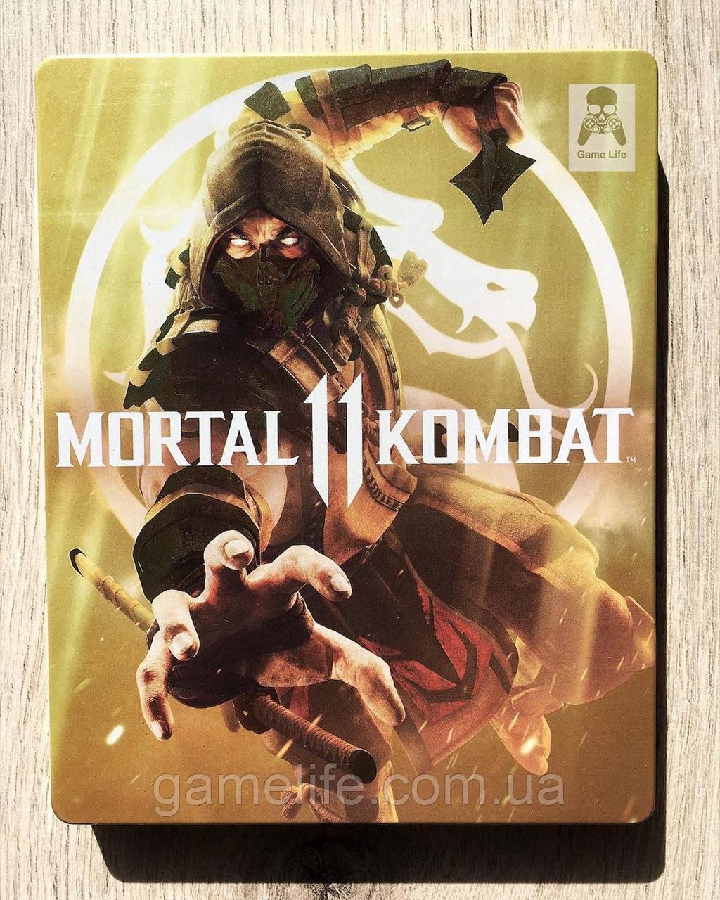 Mortal kombat 11 Steelbook (рус. суб) (б/у) PS4