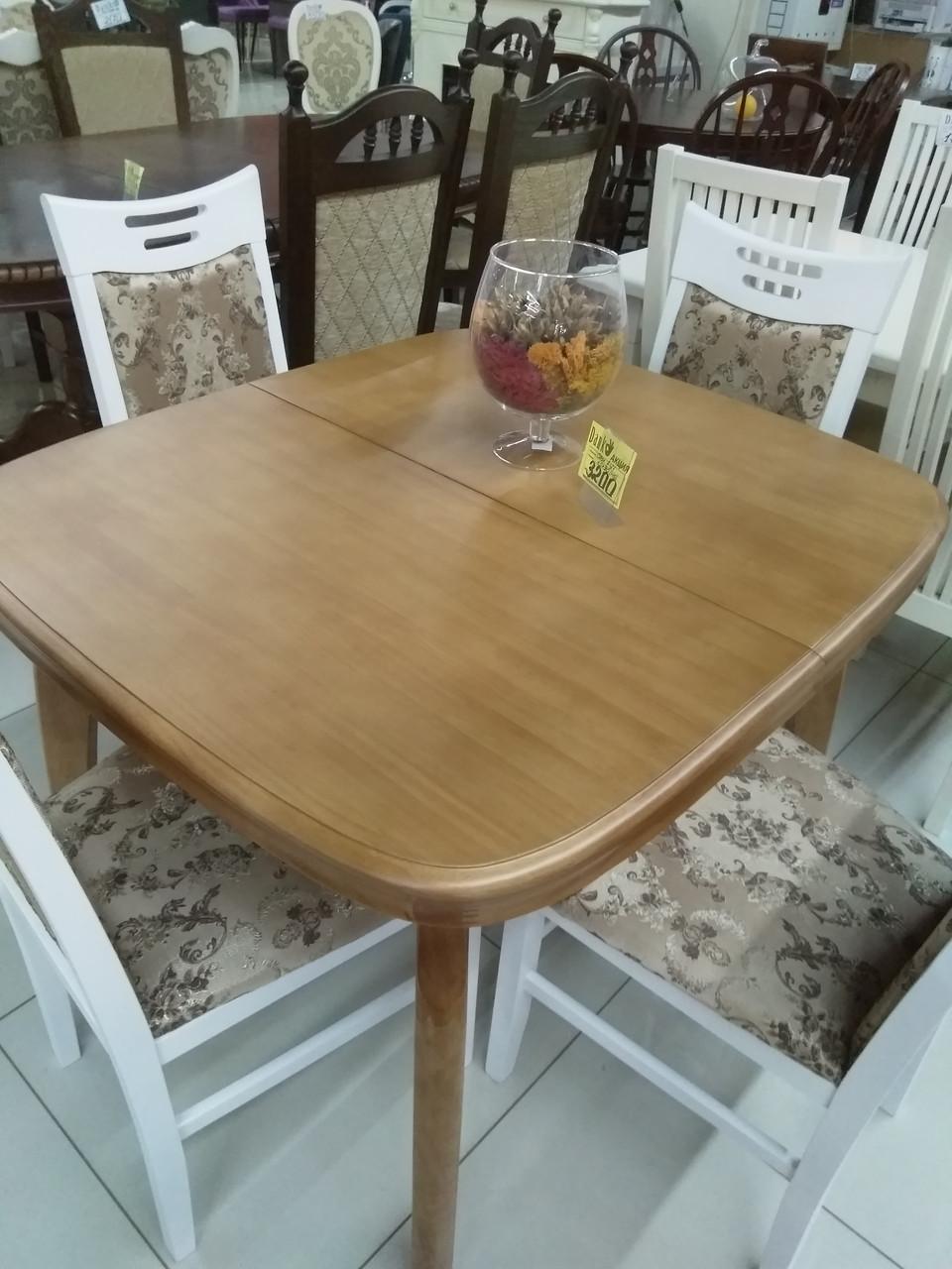 Раздвижной деревянный стол А-21, цвет ольха
