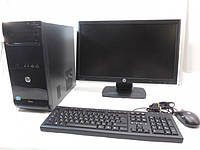 Компьютер в сборе, Intel Core I3, 4 ядра по 3,2 ГГц, 6 Гб DDR-3 -1600 МГц, HDD 250 Гб, SSD 120 Гб, монитор 22, фото 1