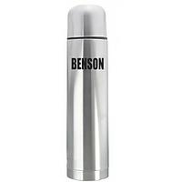 Термос из нержавеющей стали вакуумный с чехлом Benson BN-053 1 л Steel