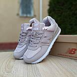 Женские кроссовки New Balance 574 кожаные грязно розовые. Живое фото. Реплика, фото 5