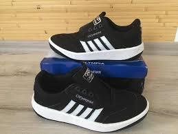 Мужские кроссовки,Олимпия, Adidas черно-белые,нубук