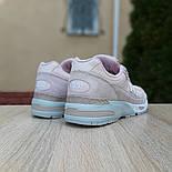 Женские кроссовки New Balance 991 замшевые пудра. Живое фото. Реплика, фото 4