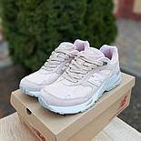 Женские кроссовки New Balance 991 замшевые пудра. Живое фото. Реплика, фото 3