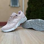 Женские кроссовки New Balance 991 замшевые пудра. Живое фото. Реплика, фото 7
