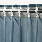IKEA HILJA Гардины, 2 шт., синий, 145x300 см (904.630.29), фото 4