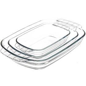 Набор стеклянных противней FIREX 3 шт (236710) Прямоугольных