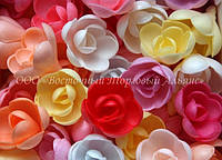 Вафельные цветы «Розы большие микс» - 56 шт.