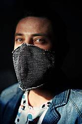 Дизайнерская мужская маска унисекс с кармашком.
