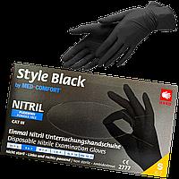 """Перчатки нитриловые неопудренные черные XL""""STYLE Black"""" 1уп/100шт"""