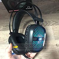 Игровые наушники проводные с микрофоном The Engineer A2 геймерские для компьютера и ноутбука с подсветкой