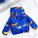 Детская демисезонная куртка Лошадки на рост 98-110 см, фото 2