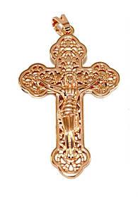 Крестик позолота с кр.оттенком мкр-014