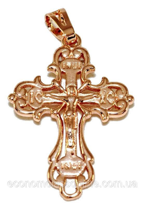 Крестик позолота с кр.оттенком мкр-017