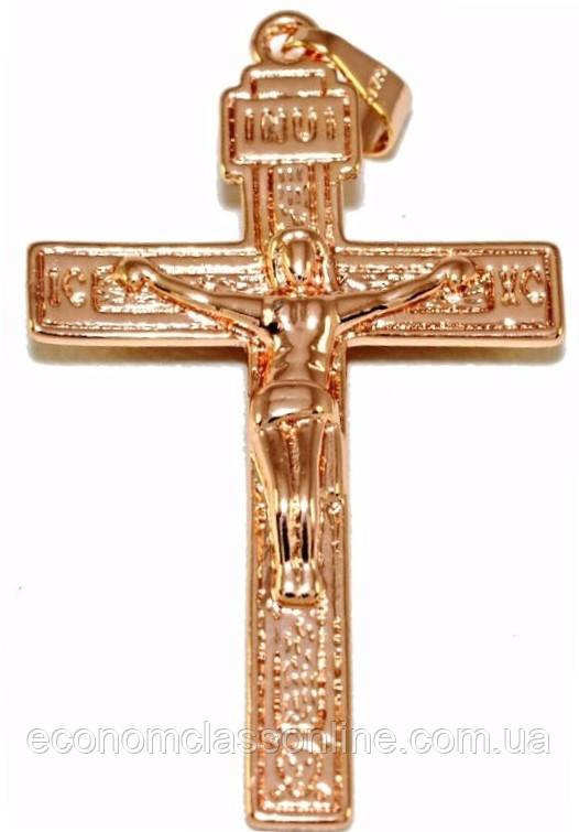 Хрестик позолота з кр.відтінком мкр-015