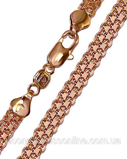 Ланцюжок позолота з кр.відтінком плетіння бісмарк подвійний хц-011