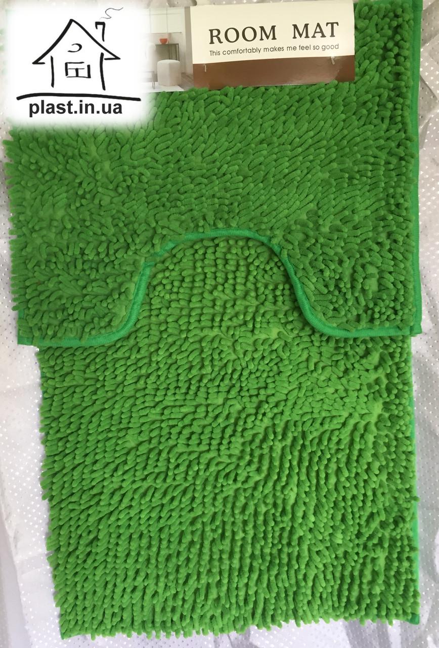 Набор ковриков для ванной комнаты Лапша 80*50 см (зеленый)
