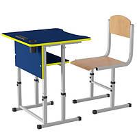 Парта школьная Першачок и ученический стул - комплект мебели для Новой украинской школы