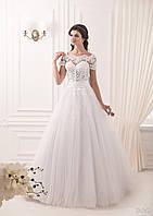 Изумительное платье А-силуэта с кружевами и спинкой-капелькой