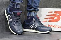 Мужские зимние кроссовки New Balance 670 кожаные,темно синие, фото 1