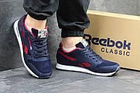 Мужские кроссовки Reebok  темно синие с красным,сетка 45р, фото 1