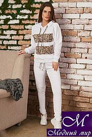 Белый спортивный костюм женский (р. 42-44, 44-46, 48-50) арт. 34-426