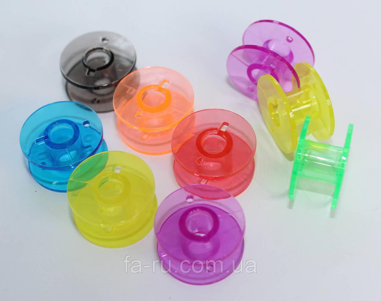 Шпули для швейной машинки пластиковые, цветные