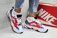 Подростковые кроссовки Nike M2K Tekno,белые c красным 39р, фото 1