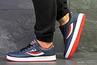 Мужские осенние кроссовки Fila,темно синие, фото 1