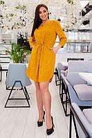Платье большого размера горчица, фото 1