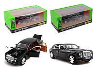 "Машина метал ""АВТОПРОМ""1:24 Rolls-Royce  , 2 цвета, батар,свет,звук,двери откр.,в кор.28,5*14,5*11,5см /12-2/"
