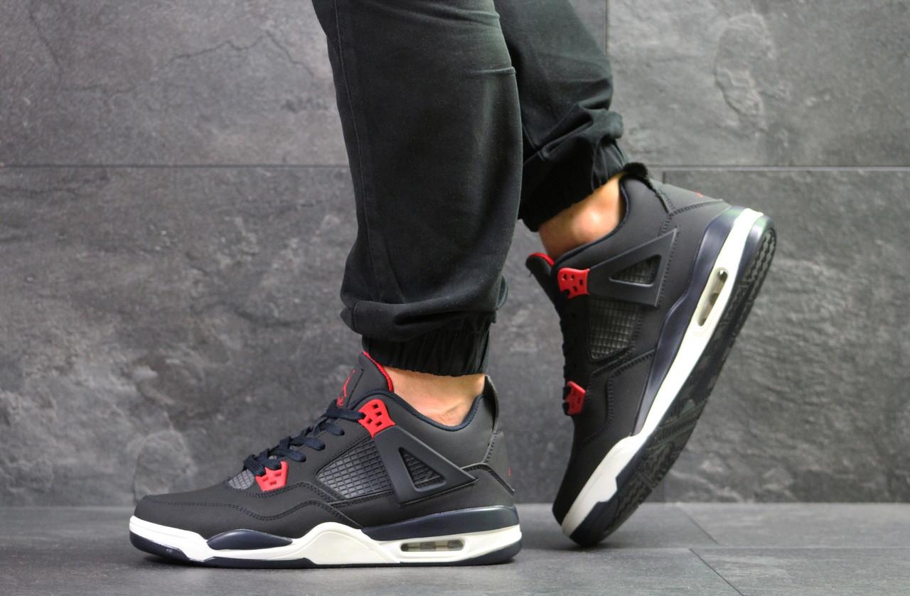 Модные кроссовки Nike Air Jordan Flight,нубук,темно синие с белым