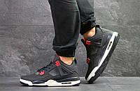 Модные кроссовки Nike Air Jordan Flight,нубук,темно синие с белым, фото 1