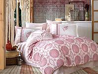 Комплект постельного белья  Hobby поплин размер евро Diamond Bordo
