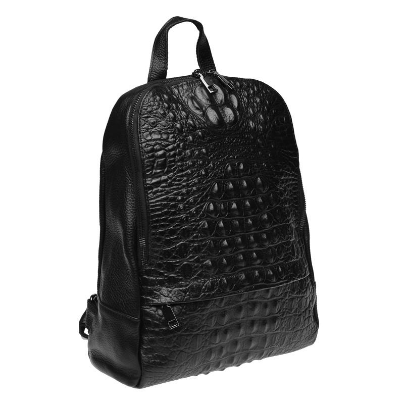 Кожаный рюкзак, черный.