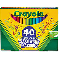 Фломастеры Crayola Смываемые Washable Broad Line Markers 40 шт 58/7861