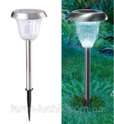 Газонні світильник на сонячній батареї Lemanso CAB120 садово парковий Металік