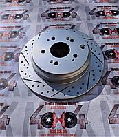 Диск тормозной задний R1 CONCEPTS CARBON GEOMET ACURA MDX/ HONDA PILOT 07-13, фото 1