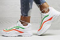Женские,подростковые  кроссовки Fila,белые с зеленым, фото 1