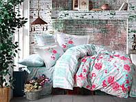 Комплект постельного белья  Hobby поплин размер евро Florentina Mint