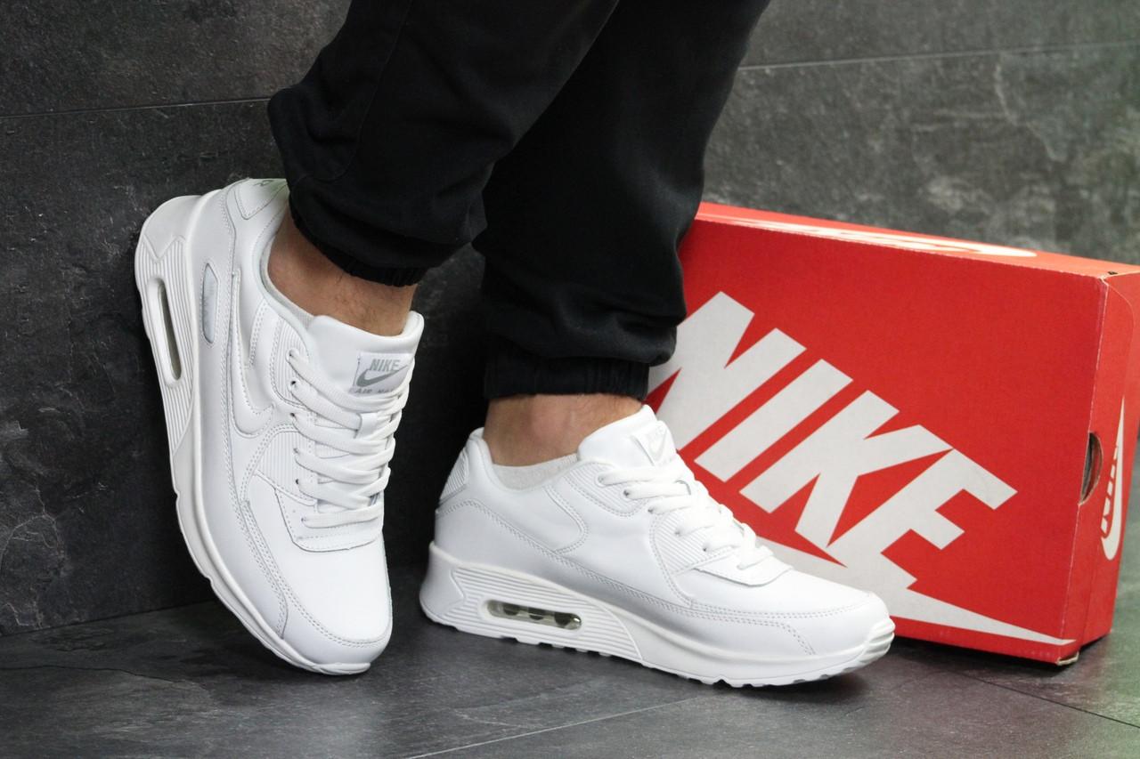 Мужские кроссовки Nike air max,белые 44р