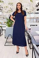 Льняное свободное платье большого размера, фото 1