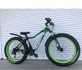 Спортивный велосипед - ФЭТБАЙК (FAT BIKE) TOP RIDER S630 Салатовый