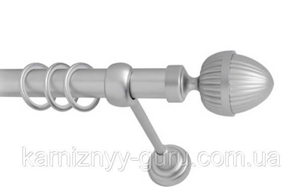 Карниз для штор ø 16 мм, одинарный, наконечник Одеон