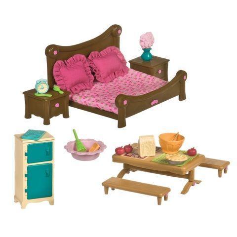 Игровой набор li'l Woodzeez Спальня и столовая 6127Z