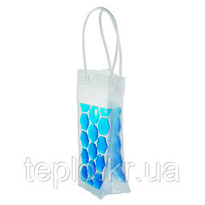 Пакет со льдом для охлаждения напитков голубой