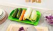 Пластиковый коврик-дуршлаг для раковины, зеленый, фото 2