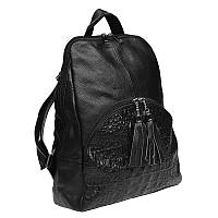 Рюкзак кожаный, черный.